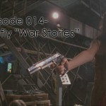 "River aims a gun in the Firefly episode, ""War Stories"""